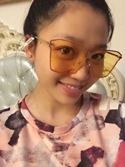 帕莎 太阳镜2017年春新款透明太阳镜女透明墨镜女偏光太阳镜J6668 J6668-J04-L蓝色 晒单图