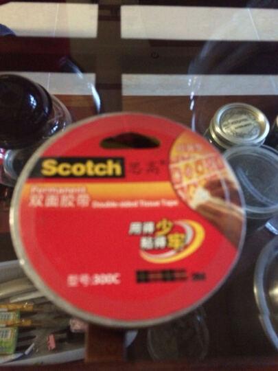 SCOTCH 3M  思高双面棉纸胶带强力双面胶粘的牢 300C 300C-24 晒单图