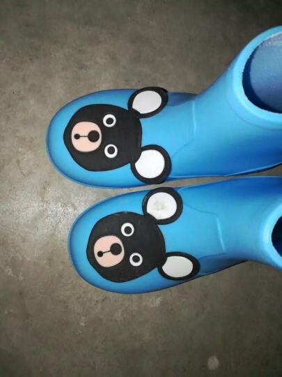 儿童雨鞋男童女童宝宝雨靴防滑防水学生水靴卡通小孩水鞋 粉色小熊 【内长15cm】 晒单图
