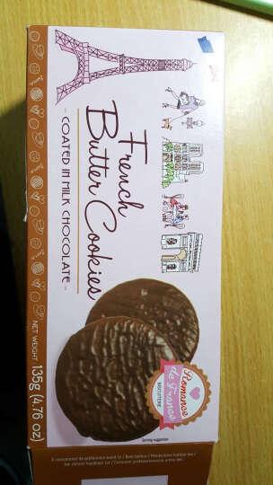 法之恋 牛奶巧克力包衣黄油饼干135g 法国进口 休闲零食 晒单图