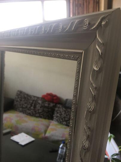 佛伦艾特(FORENART) 欧式穿衣镜落地全身镜立式试衣镜换衣镜更衣镜长方形衣帽镜子 田园碎花43*158 晒单图