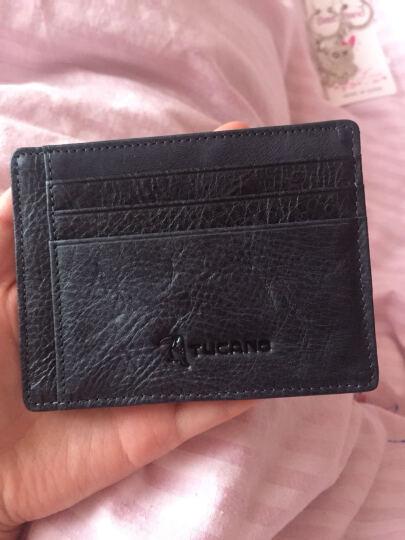 啄木鸟男士牛皮卡包 时尚休闲小钱包驾照名片夹 WAD0041A-89土黄色 晒单图