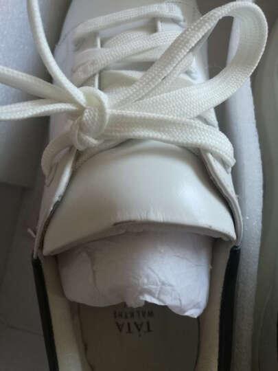 Tata/他她牛皮女休闲鞋小白鞋2CL79CM6 白/银色 38 晒单图