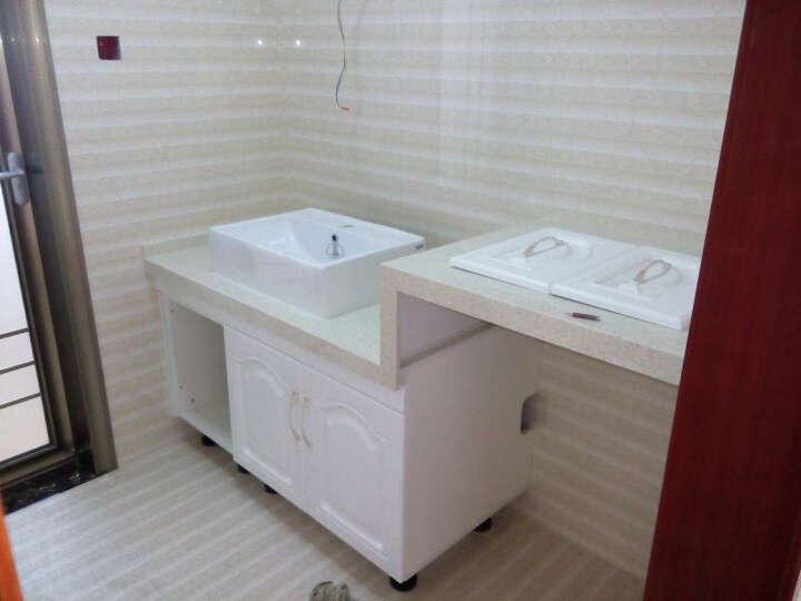 法恩莎(FAENZA) 欧式家用台上盆方形FP4659卫生间陶瓷洗手盆艺术盆FP4682 FP4682B全套含龙头下水 晒单图
