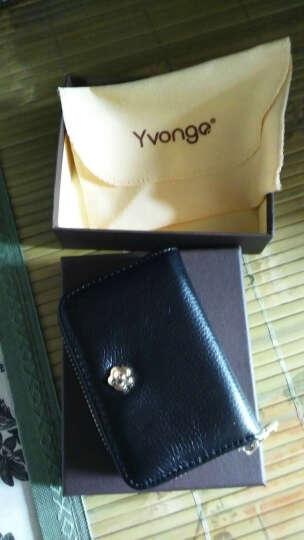 韵歌(Yvongo)名片包真皮女款卡包女士卡套卡片夹拉链名片夹牛皮大容量收纳银行卡卡片包男女通用 玫瑰红色 晒单图