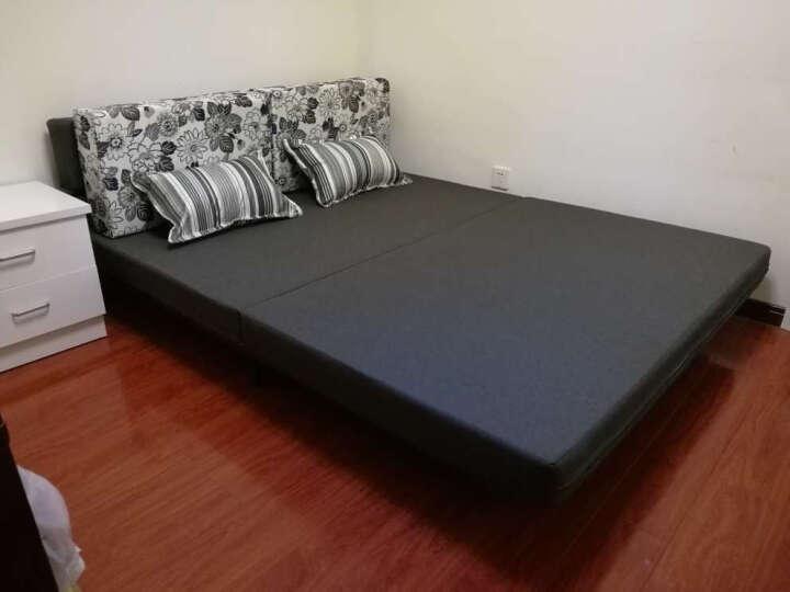 沙发床 多功能折叠1.5沙发小户型布艺双人两用 1.2可拆洗 粉红色 I款 1.45米 晒单图