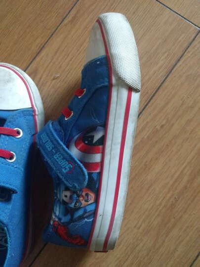 迪士尼童鞋男儿童帆布鞋女2017春季新款蜘蛛侠休闲鞋卡通板鞋 桃红色 27 晒单图