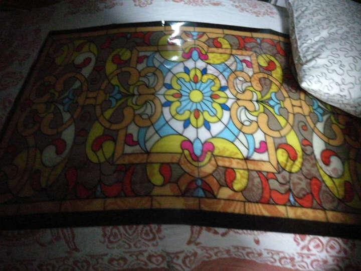 欧式彩色复古教堂静电玻璃贴膜透光不透明移门贴橱柜家具窗花贴纸 40CMx60CM半透普通带胶 晒单图