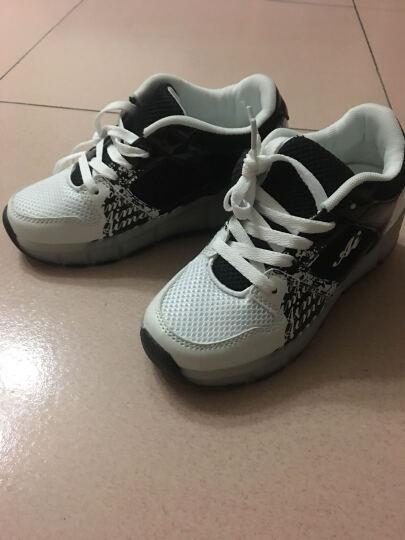 2018新款男童暴走鞋女童暴走鞋儿童运动滑轮鞋 818单轮黑色 38码24.5CM 晒单图