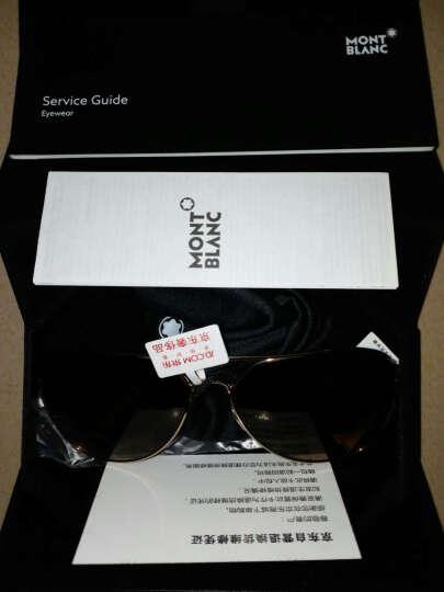 MontBlanc 万宝龙 男款金色镜框茶色渐变镜片眼镜太阳镜MB 644S 32F 60MM 晒单图