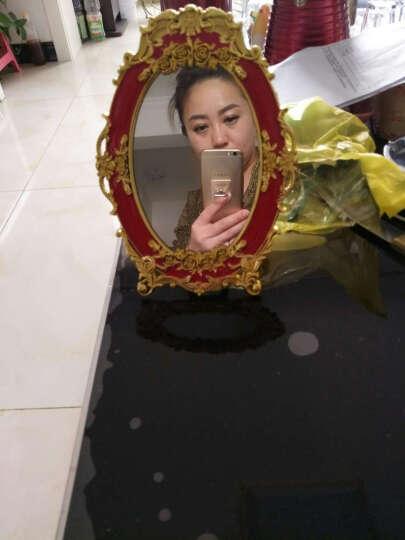 麦达令婚庆用品结婚镜子新娘化妆镜子红色上头镜 新人用品红镜子 椭圆款(小号) 晒单图