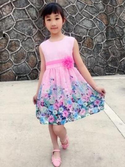 太子萨童装女童连衣裙夏装2018新款儿童裙子夏季公主裙女童中大童女装12 XQ523粉色 150 晒单图
