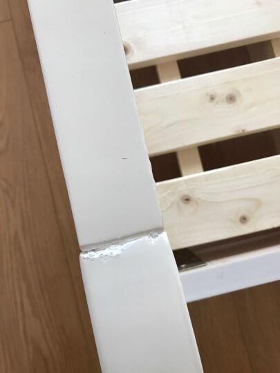 林中漫步 实木床 双人床 1.8米1.5米单人白色公主床架 2米简欧式软包皮床储物家具 简易框架床+2个床头柜 1.8*2.0(象牙白) 晒单图