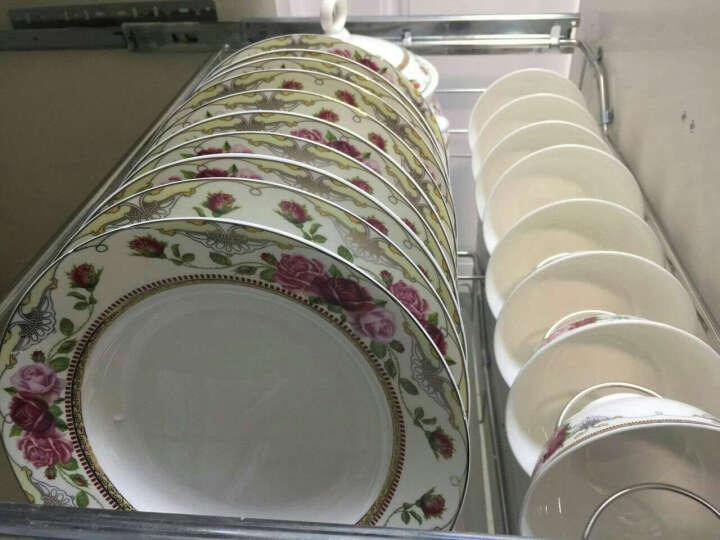 御晟 景德镇58头碗碟陶瓷器骨瓷餐具套装碗筷碗具碗盘勺子套装乔迁送礼品家用 56头帝王风范 晒单图