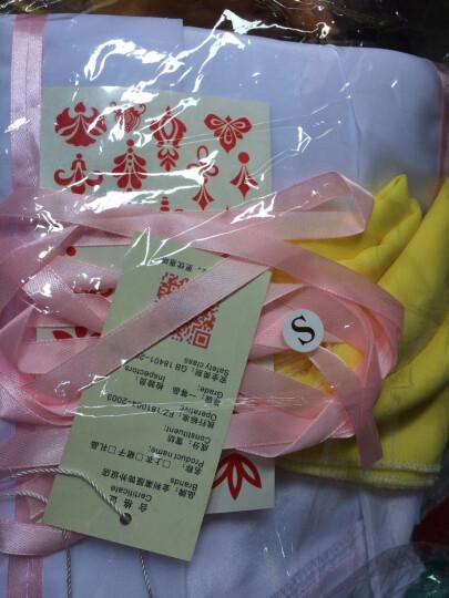 七仙女古装服装唐装汉服嫦娥仙女服齐胸襦裙摄影艺术写真 黄色 黄色广袖粉带 S 晒单图