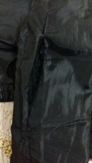 香爱蜜2017秋装欧洲站短款机车皮衣女修身PU皮水洗皮夹克短外套女潮 68128黑色 XL 晒单图