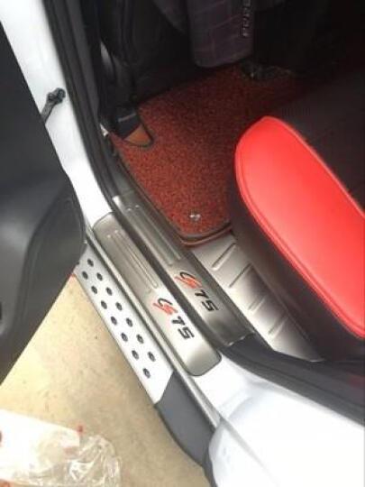 新运 长安CS75专用不锈钢迎宾踏板门槛条 全包外置后备箱护板 外饰改装专用装饰件加长加厚 CS75全套5门踏板分体12片全包【点漆彩标】 晒单图