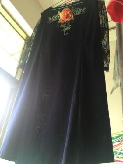 噢邸博 中老年女大码夏装婚宴婚礼妈妈装两件套装连衣裙中年礼服 蓝色七分袖. XXL 晒单图