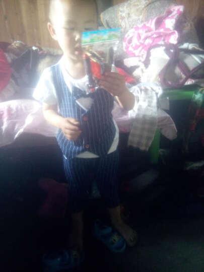 春之北纬儿童套装夏绅士马甲男童短袖领结三件套童装套装学院LWXL1475YZ-1 藏蓝 110 晒单图