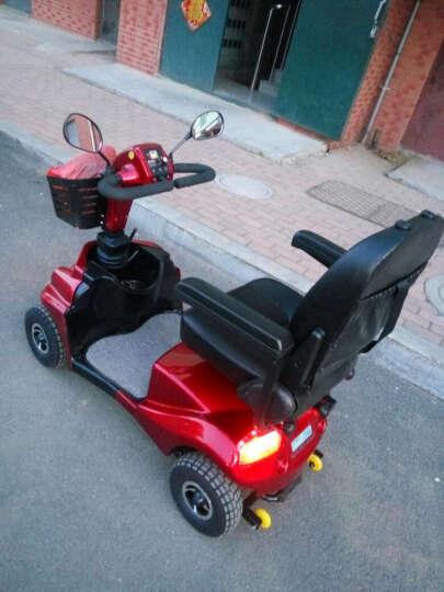 斯途玛S50代步车四轮电动车老人助力车残疾人代步车电瓶观光车 加州红 晒单图