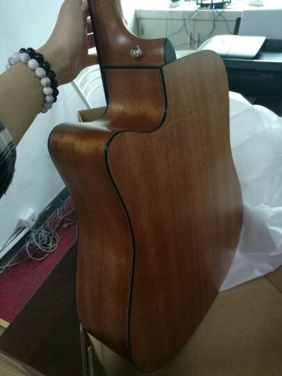 盛听(ShengTing) 曼泰(MANTIC) 曼泰吉他 民谣吉他新手初学40寸41寸jita吉他 AG-1C原木色缺角 41寸 晒单图