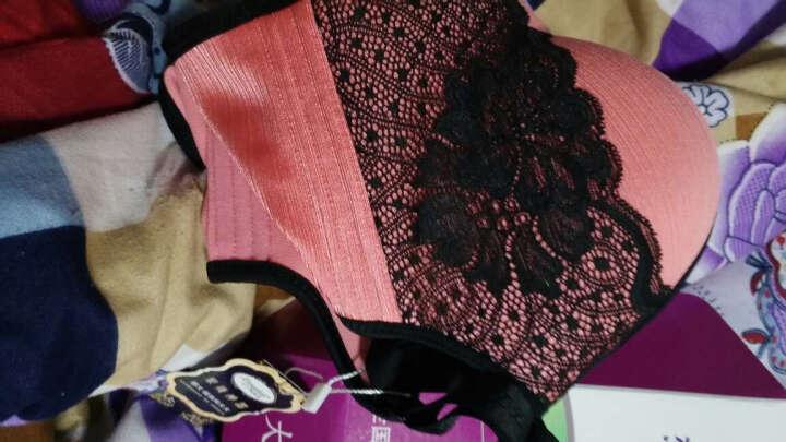 向大大无钢圈内衣正品文胸套装拉丝蕾丝薄款聚拢加厚收副乳胸罩 蕾丝薄款紫色 80C=36C(薄杯) 晒单图