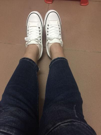 星邦情侣款白色帆布鞋女平底低帮学生球鞋男女生透气韩版潮女士板鞋特价B12 大红色 35女款 晒单图