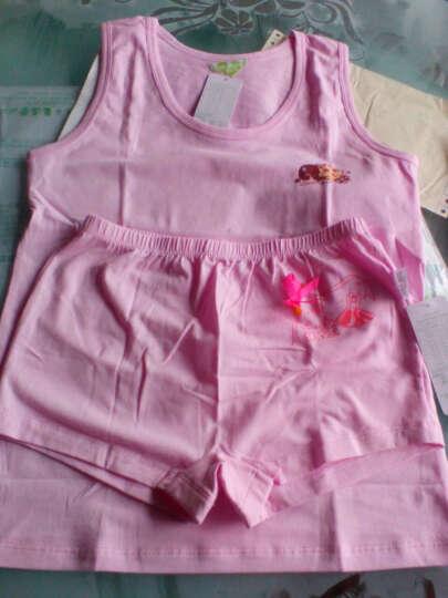 N购 女童内衣发育期儿童吊带纯棉打底衫套装夏中大童学生背心 T2388黄色(套装) 140 晒单图
