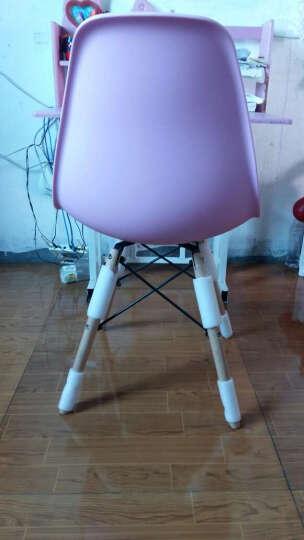 百思宜 电脑椅伊姆斯休闲椅咖啡餐饮椅 简约办公椅子电脑椅洽谈椅 亚光粉色(加厚椅面) 晒单图