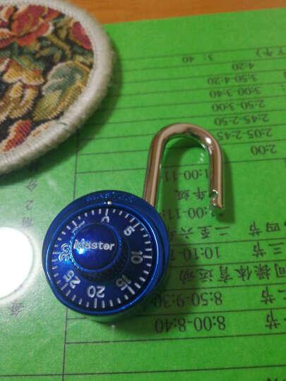 玛斯特(MasterLock)户外旅行箱包密码锁健身房储物柜子学生宿舍大门防盗锁(固定密码) 1530MCND绿色 晒单图