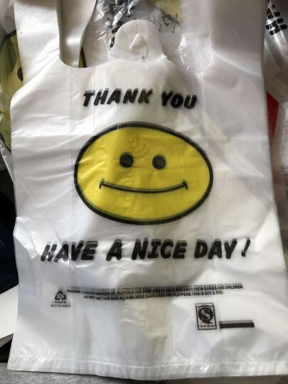 庄太太塑料袋透明笑脸手提塑料袋背心食品方便购物打包装笑脸袋子定做订制logo 5丝38*58/200捆送30捆共11500只 晒单图