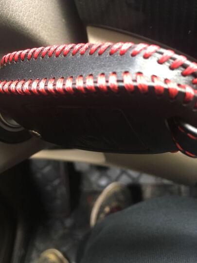 R1福田伽途IX5钥匙包IX5拓陆者萨瓦纳图雅诺汽车专用真皮遥控改装套 伽途IX5红线 晒单图