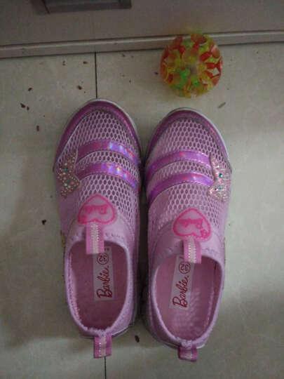 芭比 BARBIE 女童运动鞋 女童单网鞋儿童运动鞋 透气 1641浅紫32 晒单图
