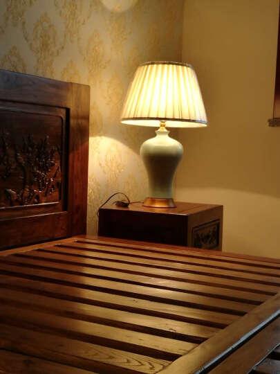 圣玛帝诺 全铜陶瓷台灯 卧室床头台灯景德镇现代简约创意装饰台灯 AV-1257冰裂陶瓷调光 晒单图