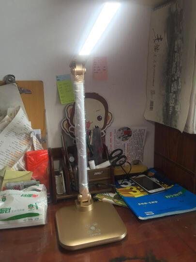 欧普照明 LED台灯学习灯床头灯触控调光调色金色 晒单图