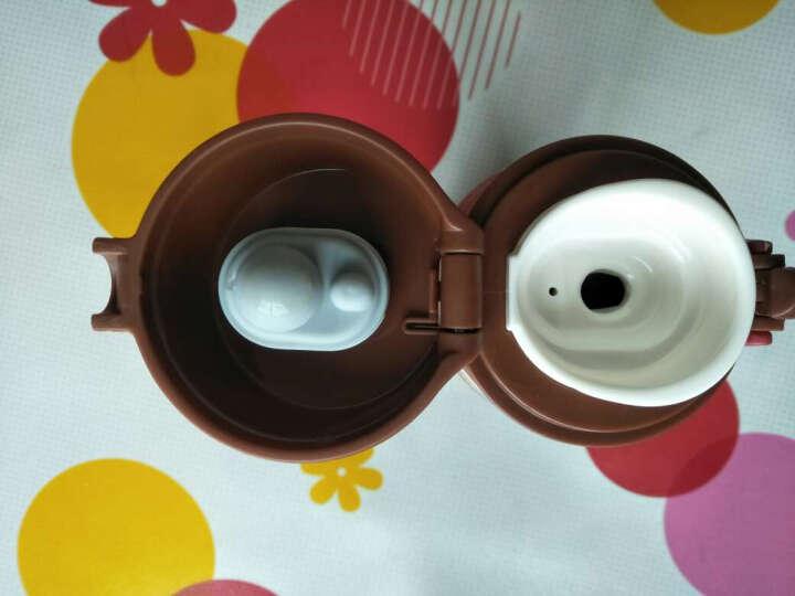 LOVO 罗莱生活出品杯子萌兔硅胶玻璃杯便携式运动水杯办公室学生茶杯(重复) 绿色 晒单图