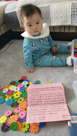 美阳阳 加厚雪花片12色收纳盒装塑料积木拼插拼装宝宝儿童益智玩具 中号 3cm 600片 收纳盒装 晒单图