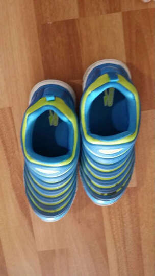 鸿星尔克ERKE男女童鞋儿童运动鞋中大童毛毛虫舒适易弯曲仿生一脚蹬休闲鞋一脚套跑步鞋 桔红/彩蓝 34 晒单图