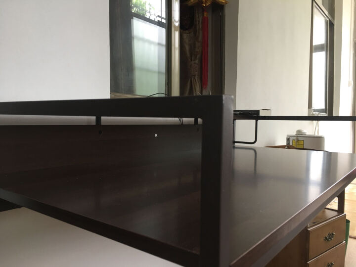 择木宜居 电脑桌 台式电脑桌子办公桌子 写字台电脑台书桌组合 柚木色 小号92*61*87cm 晒单图