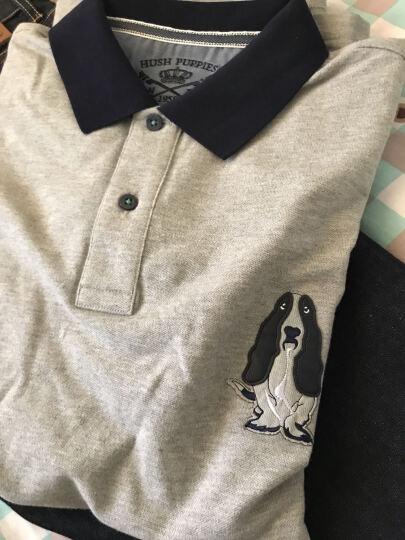 HushPuppies暇步士男装棉弹拼色短袖男士POLO衫|PD-27323D 中灰 XL 晒单图