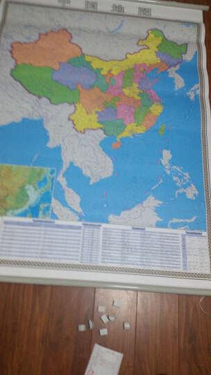 【现货包邮】中国地图挂图2019年全新竖版1米1.4米 防水覆膜 商务办公挂绳挂图 晒单图