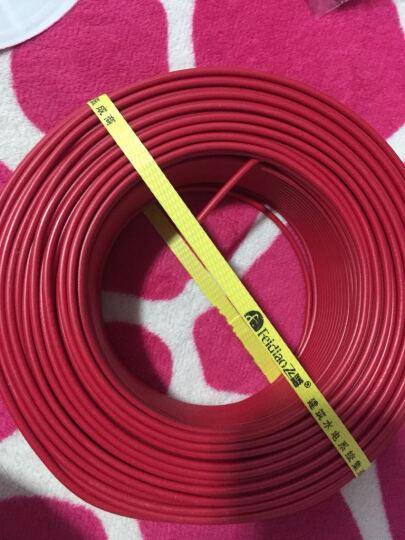 飞雕(FEIDIAO)电线电缆 BV2.5平方 国标家用铜芯电线单芯单股铜线100米 红色火线 晒单图