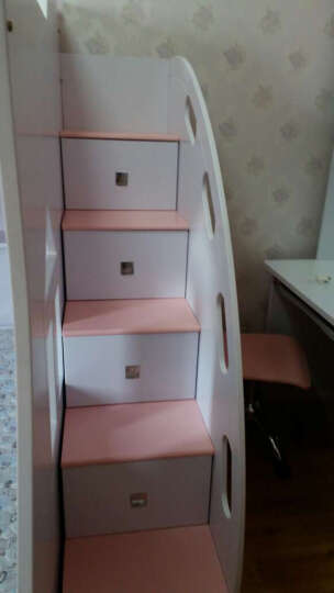 卡奴米 韩式电脑桌台式儿童书桌书柜组合板木简约欧式转角书桌写字台602# 象牙白 直角书桌 晒单图