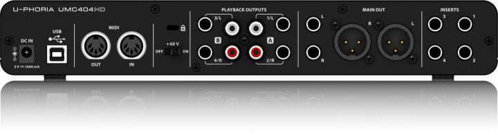 百灵达(Behringer) UMC404HD 外置声卡(专业级4×4音频接口USB接口话放及MIDI接口/专业录音家庭影音娱乐) 晒单图