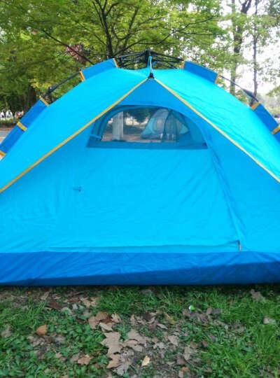 探路者帐篷户外3-4人液压全自动速开双层加厚野营防雨露营账蓬吊床充气垫登山杖睡袋 野餐垫 均码 晒单图