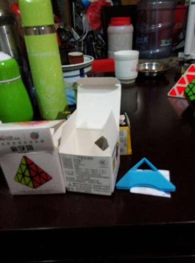 圣手异形魔方三阶镜面魔方比赛顺滑五魔方金字塔斜转粽子SQ-1魔方益智烧脑玩具 银色镜面加三角金字塔魔方 晒单图