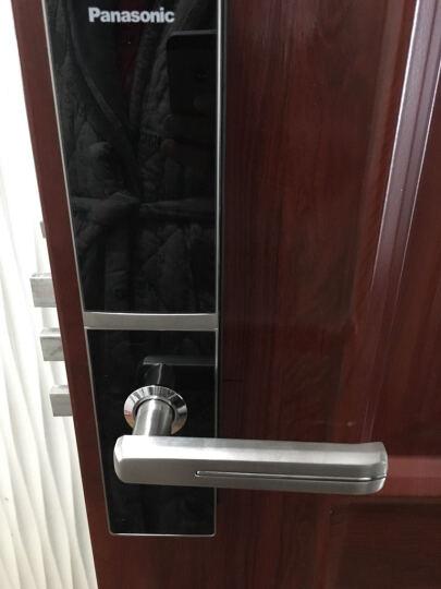 松下(Panasonic)电子锁V-N630C 智能指纹锁 家用防盗密码锁 右开 古铜色 晒单图