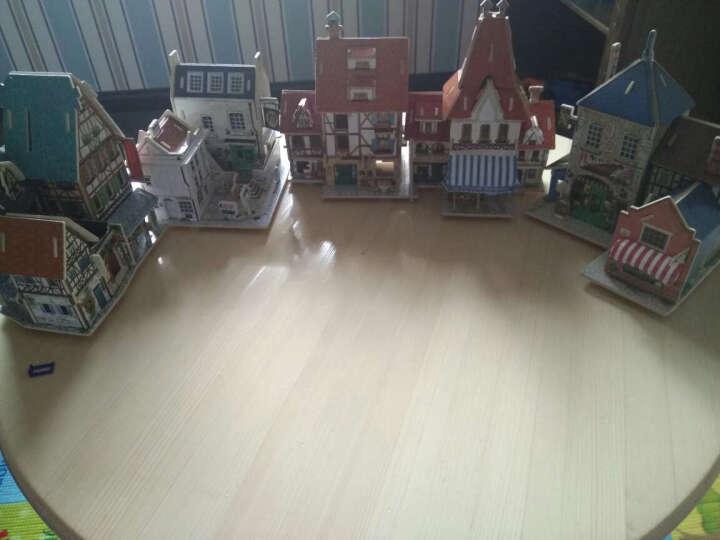 若态3D立体拼图拼装模型木质小屋diy小房子建筑模型益智玩具开学礼物礼品 美国-汽车旅馆 晒单图