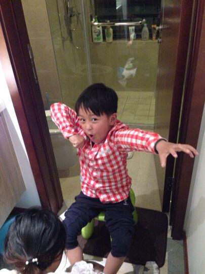 巴拉巴拉(BALABALA)男童长袖衬衫小童宝宝上衣儿童格子衬衣男潮28021171204蓝白色调80 晒单图