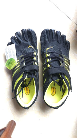Vibram五指鞋男 赤足鞋深蹲举重硬拉健身鞋综合运动训练跑步鞋五趾鞋V-TRAIN 17M6601/黑色 44 晒单图